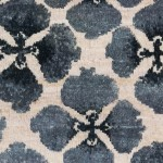 Sakura in Indigo, Persian Knot, Fireplace Closeup